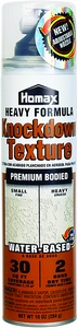 World Paint Supply - Homax Water Based Knockdown Drywall Spray Texture 10 oz., $7.99 (http://www.worldpaintsupply.com/homax-water-based-knockdown-drywall-spray-texture-10-oz/)