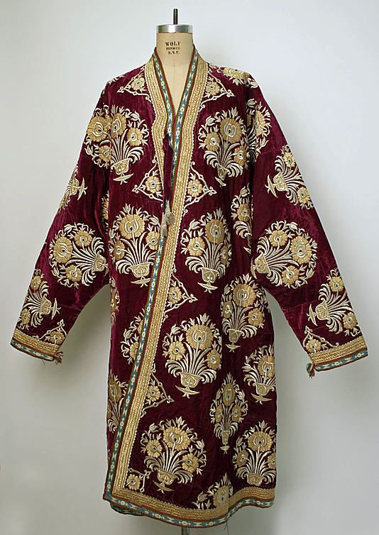 Robe, Asian, 19th century, silk, cotton.