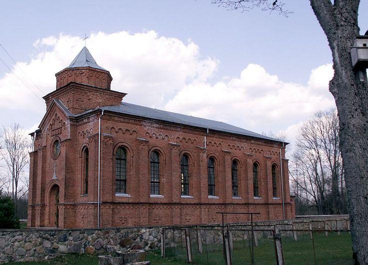Radziwiliszki- Lithuania... church, built in 1887 by Martin Cumft