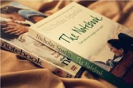 """The Notebook. -by Nicholas Sparks.  """"Every great love starts with a great story..."""""""