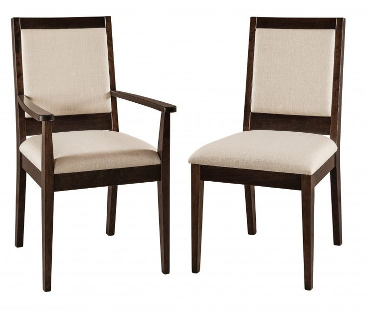 The Wescott Chair Is Available With Or Without Arms And A Fabric Leather Seat Back Dimensions Are 20 1 2w 23 Arm X 18d 37h