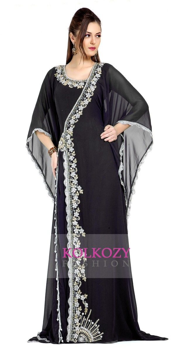 Attractive Gulf Style Black Kaftan Design