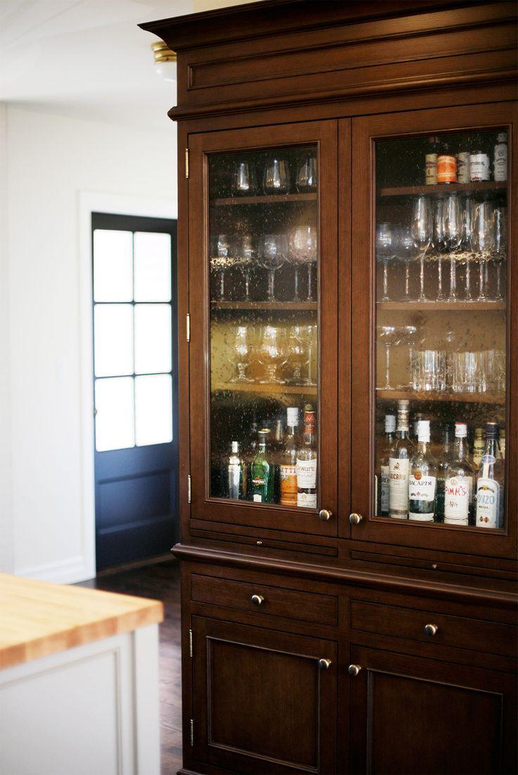 Luxury Bar Wall Cabinet Glass Doors