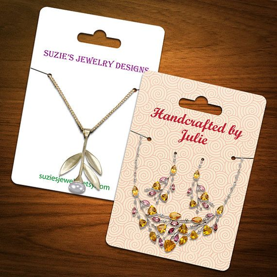 Personalized Jewelry Cards Are Perfect For Displaying Your Handmade Diy Pinterest Necklace Display And Jewellery
