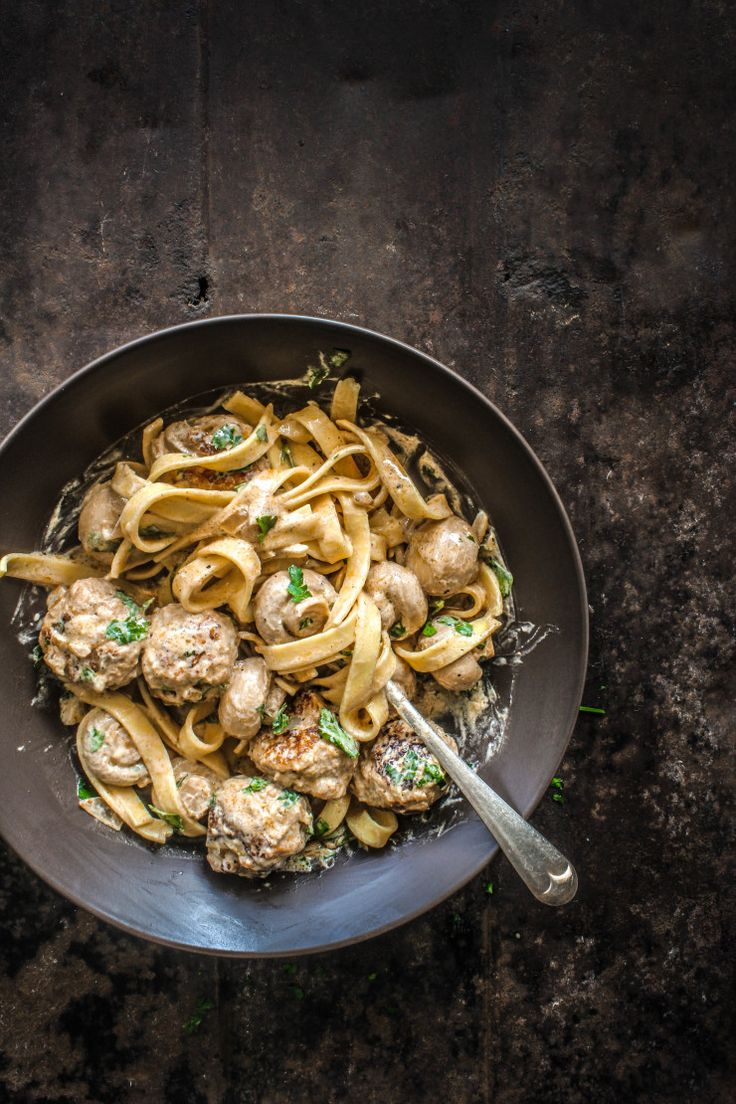 Chicken Meatball Stroganoff