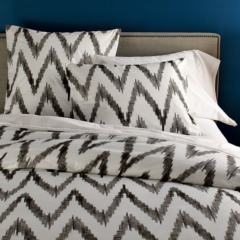 I am in love with chevron stripes right now (I know, me and everyone else). This bedding is gorgeous