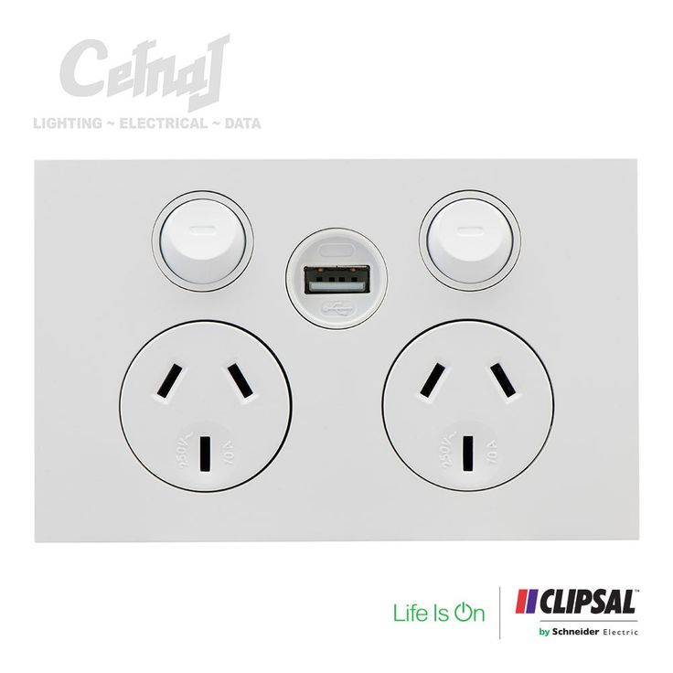 Saturn Zen Double Power Point with USB Charger - Zen White | Cetnaj