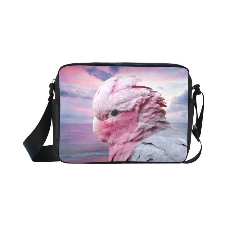 Galah Cockatoo Classic Cross-body Nylon Bag. FREE Shipping. #artsadd #bags #parrots