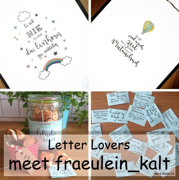 Handlettering: Letter Lovers - fraeulein_kalt zu Gast mit einer Anleitung für Glückskekse