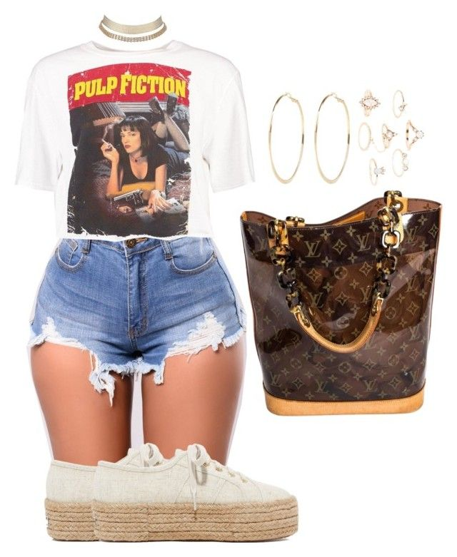 """""""Untitled #2764"""" by mrkr-lawson ❤ liked on Polyvore featuring Boohoo, Charlotte Russe, Superga, River Island and Louis Vuitton"""