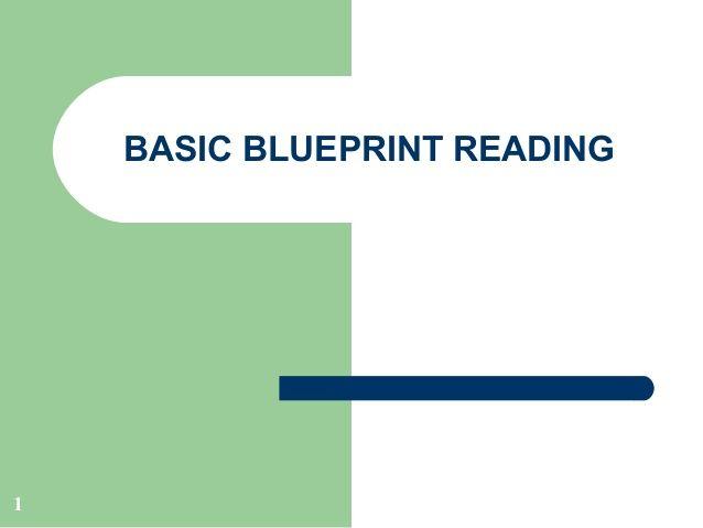 The 25 best blueprint reading ideas on pinterest blueprint basic blueprint reading 1 malvernweather Images