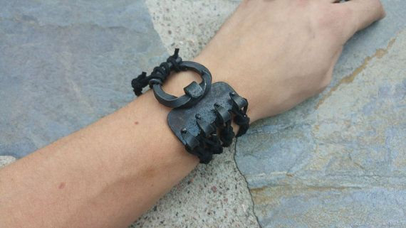 Forged cuff bracelet by NoctuaryArt on Etsy, made to order  for 60e