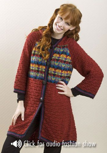 Saginaw Hooded Coat- free knitting pattern. Projects to ...