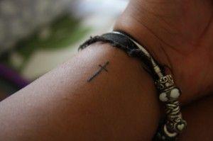 Christian Tattoo Ideas Cross Wrist