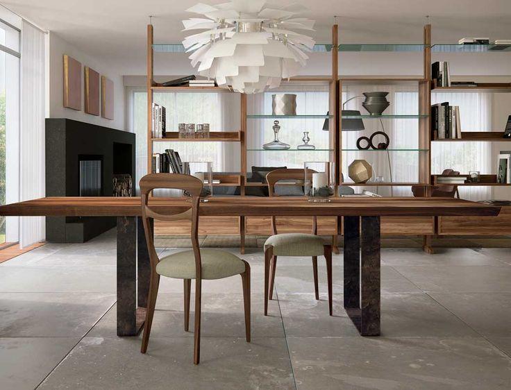 Dale Italia B-185 Tables in solid walnut - Natural Finish