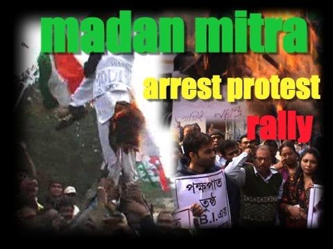 TMC Protest rally in support of Madan Mitra and against CBI
