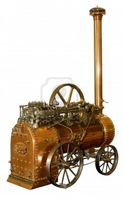 The portable steam engines were used during the Victorian age to power the industry. In today's society the concept of using engines is used throughout the world