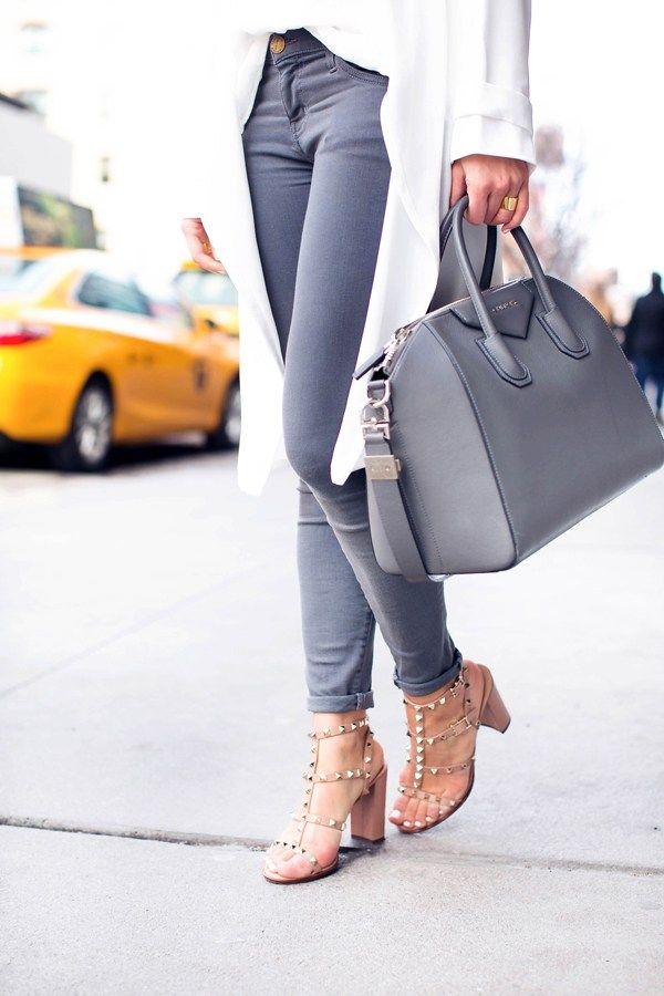 Studded sandals.