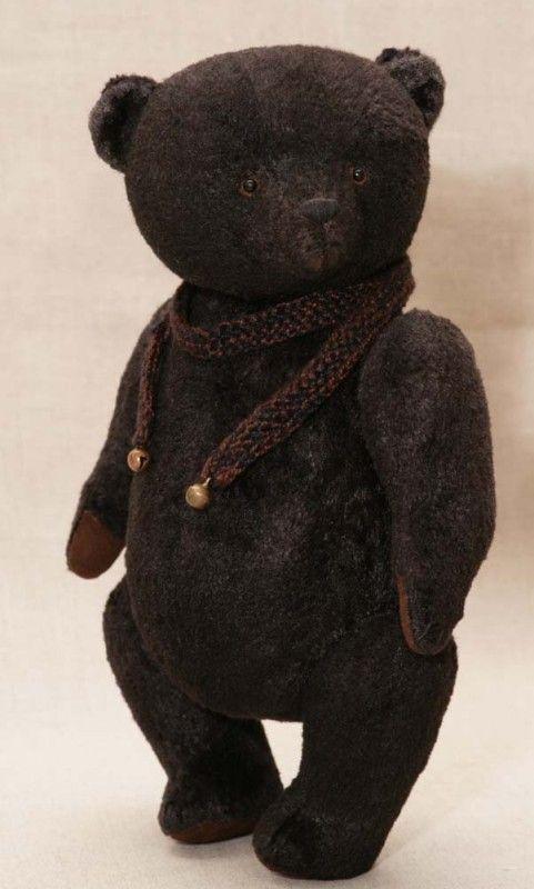 Black #teddy #bear. Artist - Hypatia. #toys