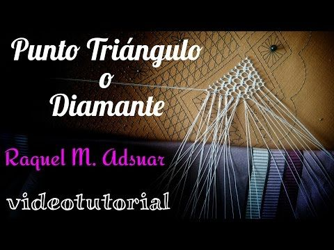 Punto de Triángulo o Diamante. Encaje de Bolillos (nivel intermedio) - YouTube