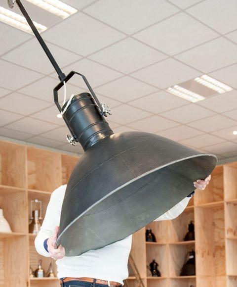 Mooie grote lamp voor in de hal, 90cm doorsnede.