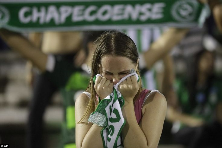 One young supporter was left in tears as they gathered at the Arena Conda on Tuesday night for the vigil