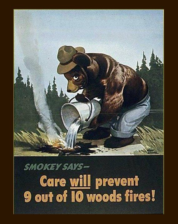 Smokey The Bear Smokey Says Prevent Forest Fires Advertisement