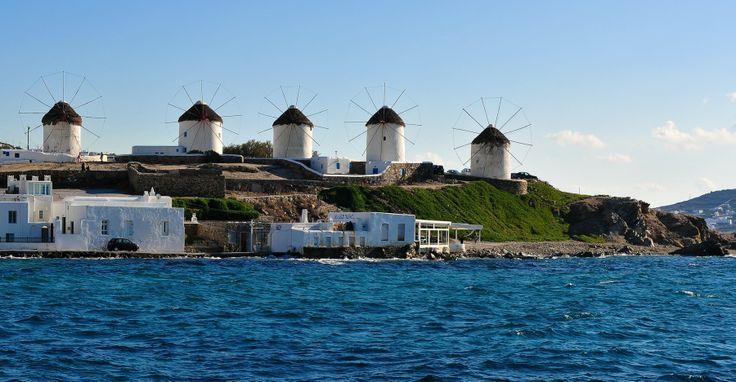 The five windmills of Mykonos