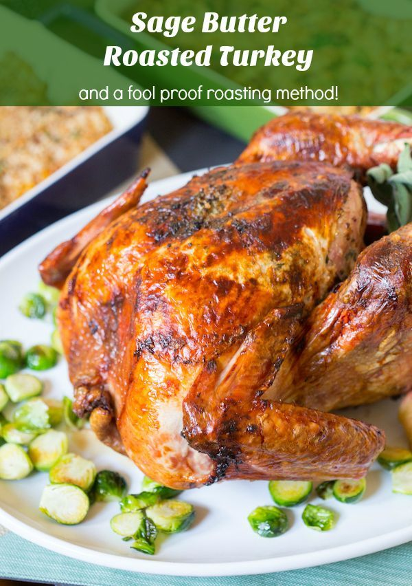 Sage Butter Roasted Turkey Recipe Yummy Yummy Get In My Tummy