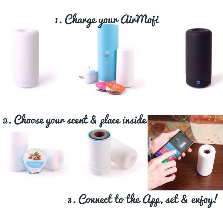 The latest in home fragrance. AirMoji-no plug, no wax, no cord!