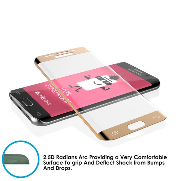 Galaxy S7 Gold Screen Protector, Punkcase Glass SHIELD Samsung Galaxy S7 Tempered Glass Screen Protector 0.33mm Thick 9H Glass  Punkcase Glass SHIELD is build with the highest quality tempered glass to obtain the best HD clear visibility. Punkcase Glass SHIELD covers the whole screen unlike other screen protectors from competitors. It also has 3D rounded edges, 0.33mm thick and has 9H hardness for superior protection. Punkcase designed the Glass SHIELD with an oleophobic coating which…