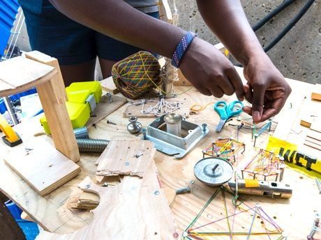 Successfully launching a school makerspace includes community buy-in, generating a student buzz, finding cheap or free resources, and building maker activities into the curriculum.