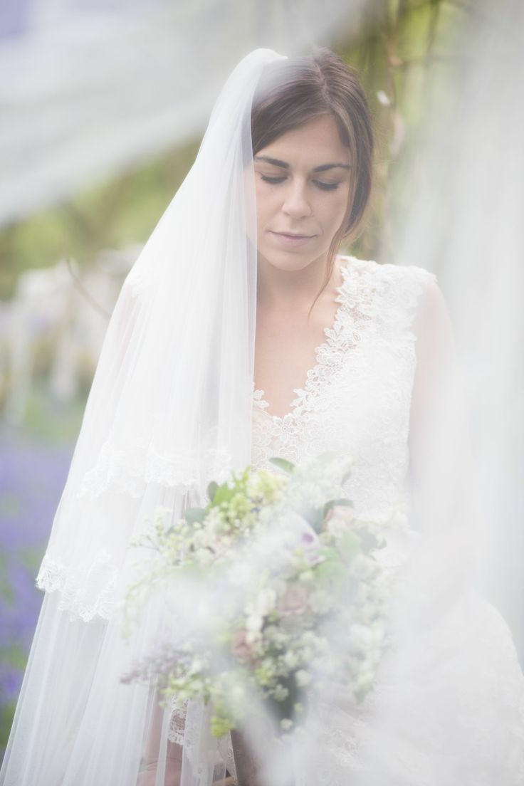 Photographer  http://jessicajillphotography.com  Bridal bouquet designed and created by www.hannahberryflowers.co.uk | Dress and veil from www.bridalb.com/surrey