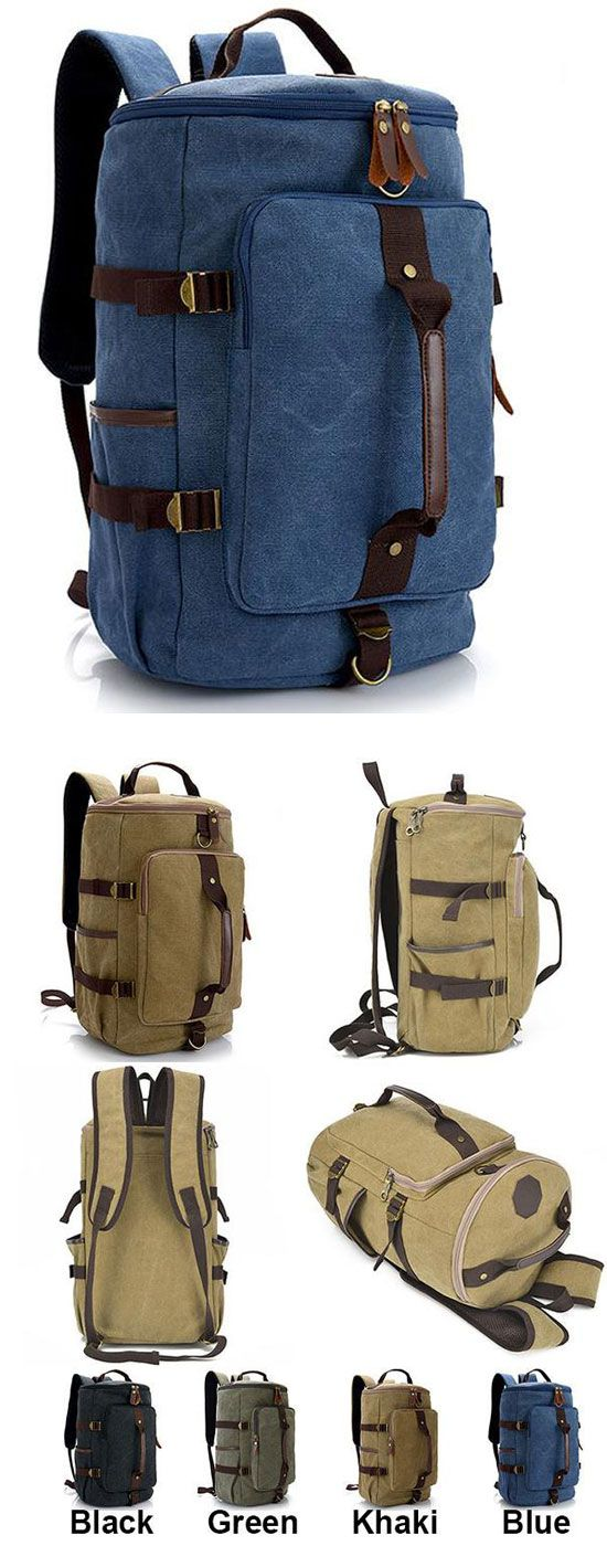 Which color do you like? Retro Camping Backpack Large Bucket Travel Outdoor Rucksack Multifunction Gym Shoulder Bag Canvas backpack #backpack #gym #shoulder #bag #travel #camping #travel