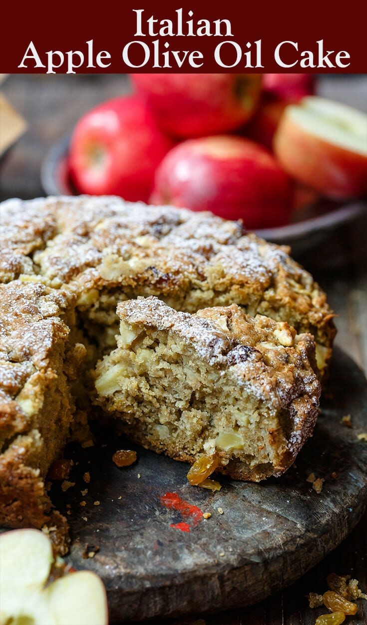 Italian Apple Olive Oil Cake The Mediterranean Dish A Rustic Dense And Moist Olive Oil Diet Desserts Recipes Olive Oil Cake Recipe Mediterranean Desserts