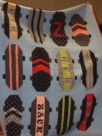 Skateboard quilt