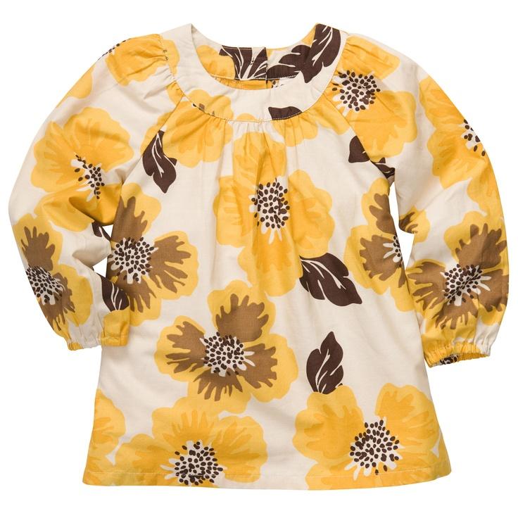 Yellow Floral Long-Sleeved Tunic $10 OshKosh