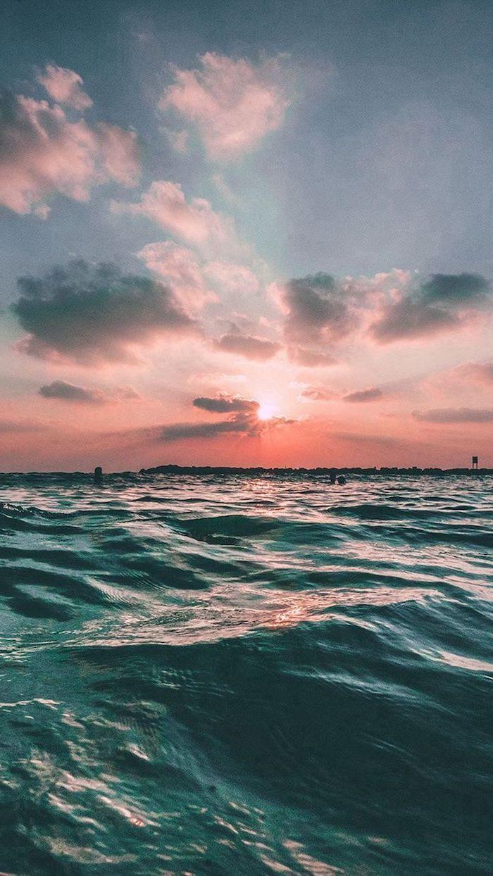 Sunset Sky Summer Wallpaper Ocean Waves Blue And Orange Sky Iphone Wallpaper Ocean Ocean Wallpaper Sunset Wallpaper