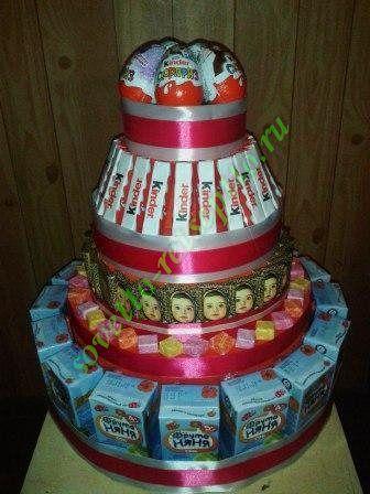 Мастер-класс по изготовлению подарка своими руками. Сегодня мы делаем подарочный торт для девочки на ее 4-й День рождения. Мы