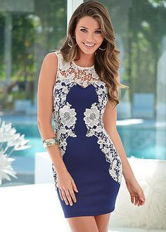 Heading out rather than to the beach? This dress will take you there. Venus lace detail dress.