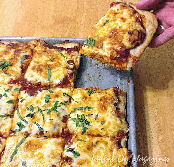 Sheet Pan Pizza from Cook's Country Magazine, April/May 2013