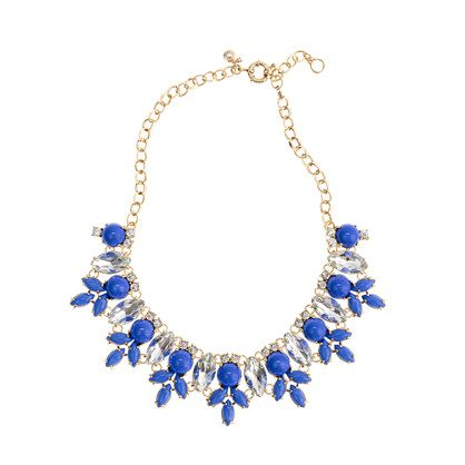 MARQUESS FLEUR NECKLACE    $138.00: Jewelry Necklaces, Pearls Necklaces, Necklaces Jcrew, Marquess Fleur, Fleur Necklaces, Something Blue, J Crew Necklaces, Blue Statement Necklaces, Crew Marquess