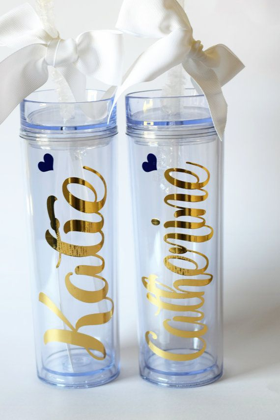 Personalized Tumbler Bridesmaid GiftOffice by madewithlovebyV