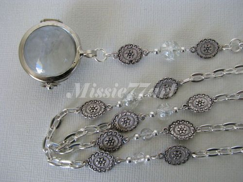 Just re-listed:  Victorian Vintage Inspired Pool of Light Bubble Pendant Necklace S/P- Gift boxed - $89.95