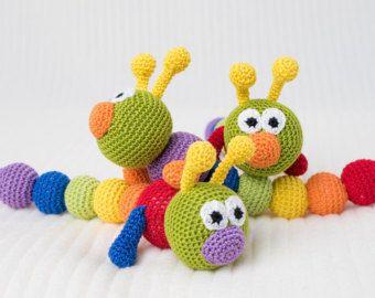 Sonajero de bebé dentición bebé juguete ganchillo juguete agarrando juguetes de dentición ganchillo sonajero bebé regalos bebé de Caterpillar