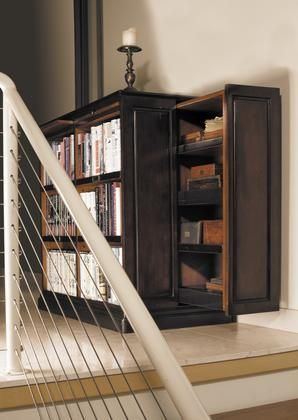 "MF116 Alchemist's Bookcase 19.75"" with Maple Pine MDF w/veneer Plywood & Brass Material in Black & Pine/ Honey Distressed French Finish"