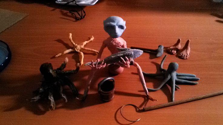 Tako Tsubo pre-puppets