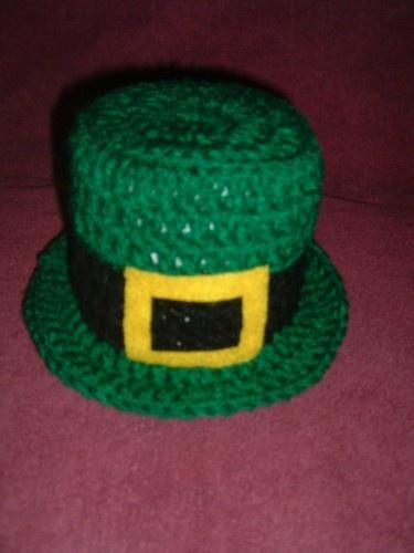 St Patricks Day Leprechaun Crochet Hat Toilet paper roll cover St Pattys Day
