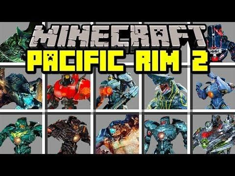 Minecraft PACIFIC RIM 2 MOD! | BUILD GIANT ROBOTS TO FIGHT KAIJU ...