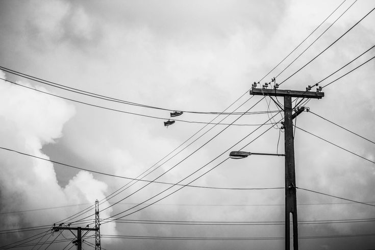 #black and white #electricity #sky #telephone lines